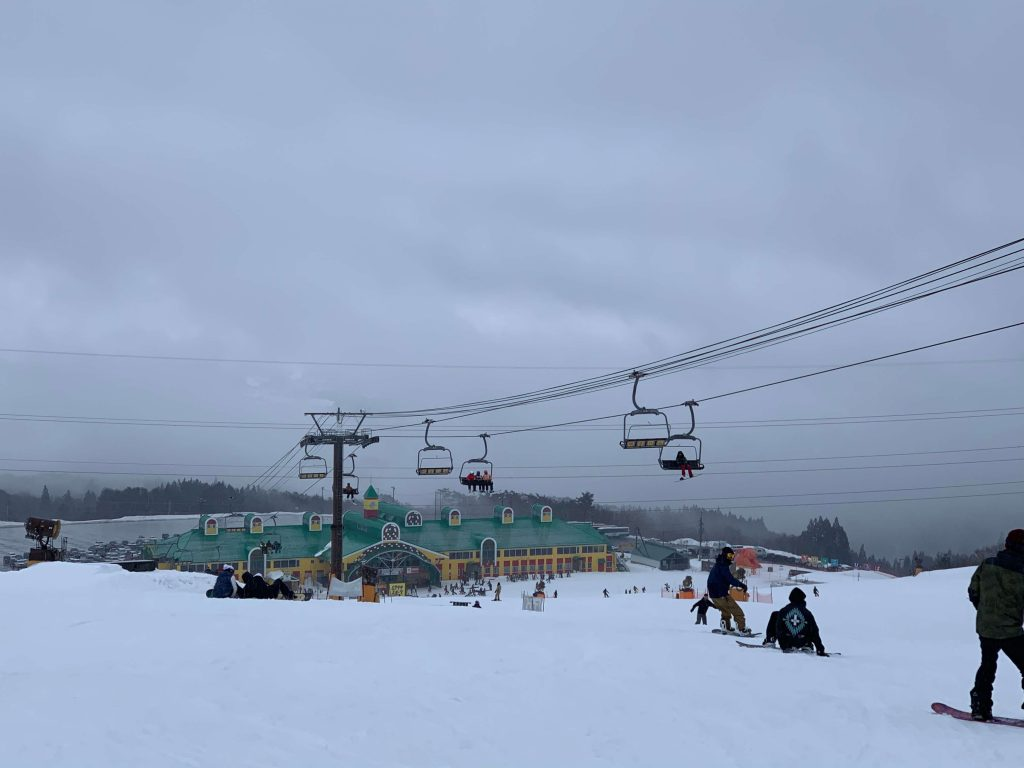skiing north of nagoya in winter