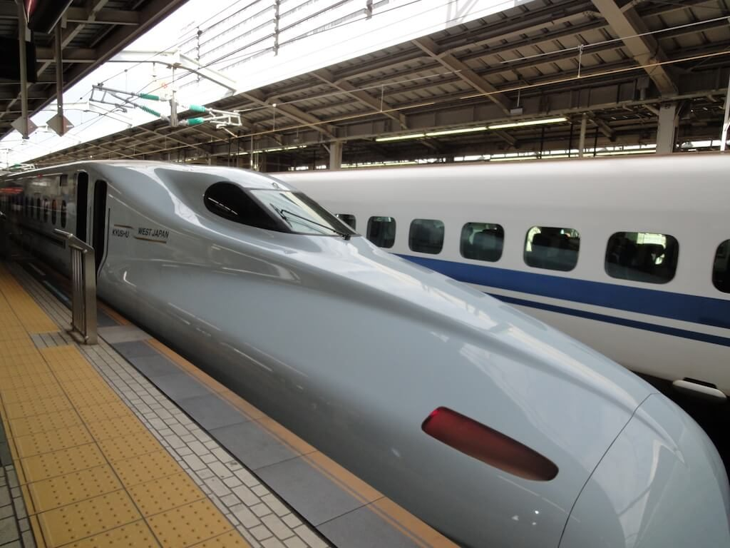 shinkansen bullet train with a japan rail pass