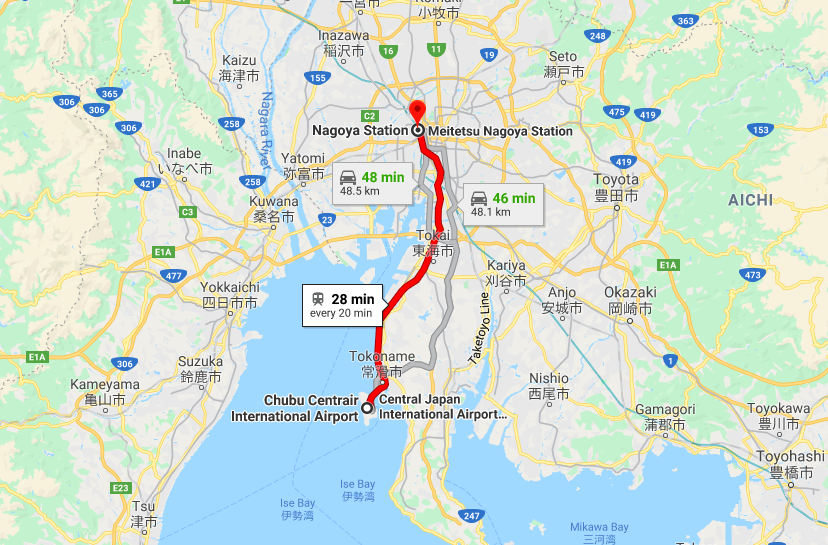 How to Get from Nagoya Airport to Nagoya Station or Your Hotel