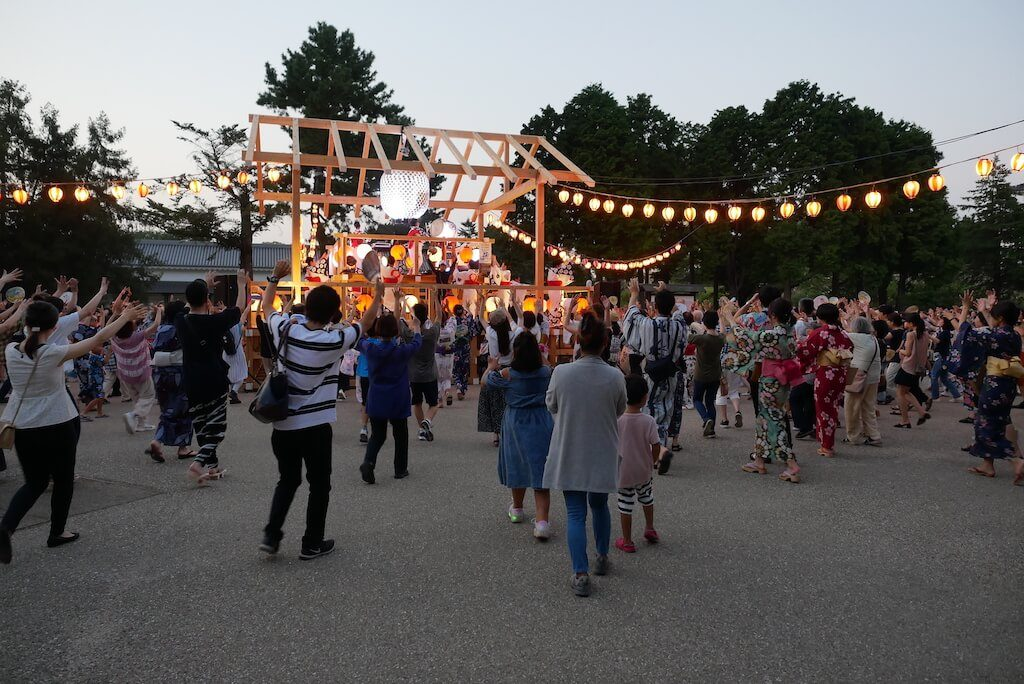 Bon Dancing at Nagoya Castle Summer Festival