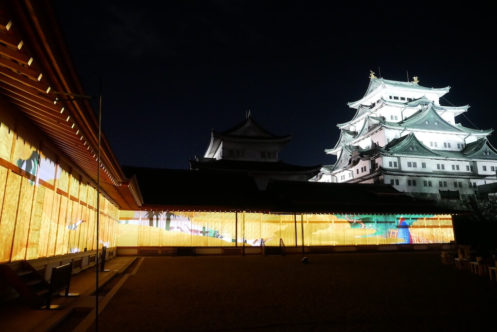 Nagoya Castle and Projection Mapping